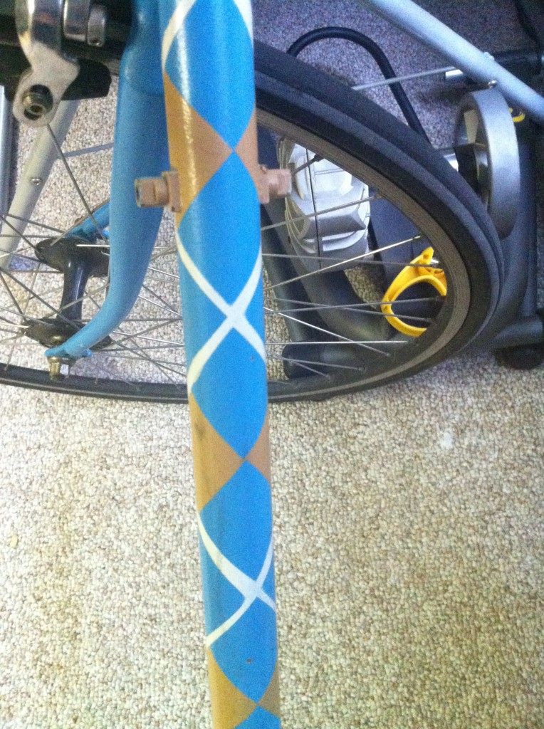 Bike 764x1024 How to paint your bicycle argyle using spray paint