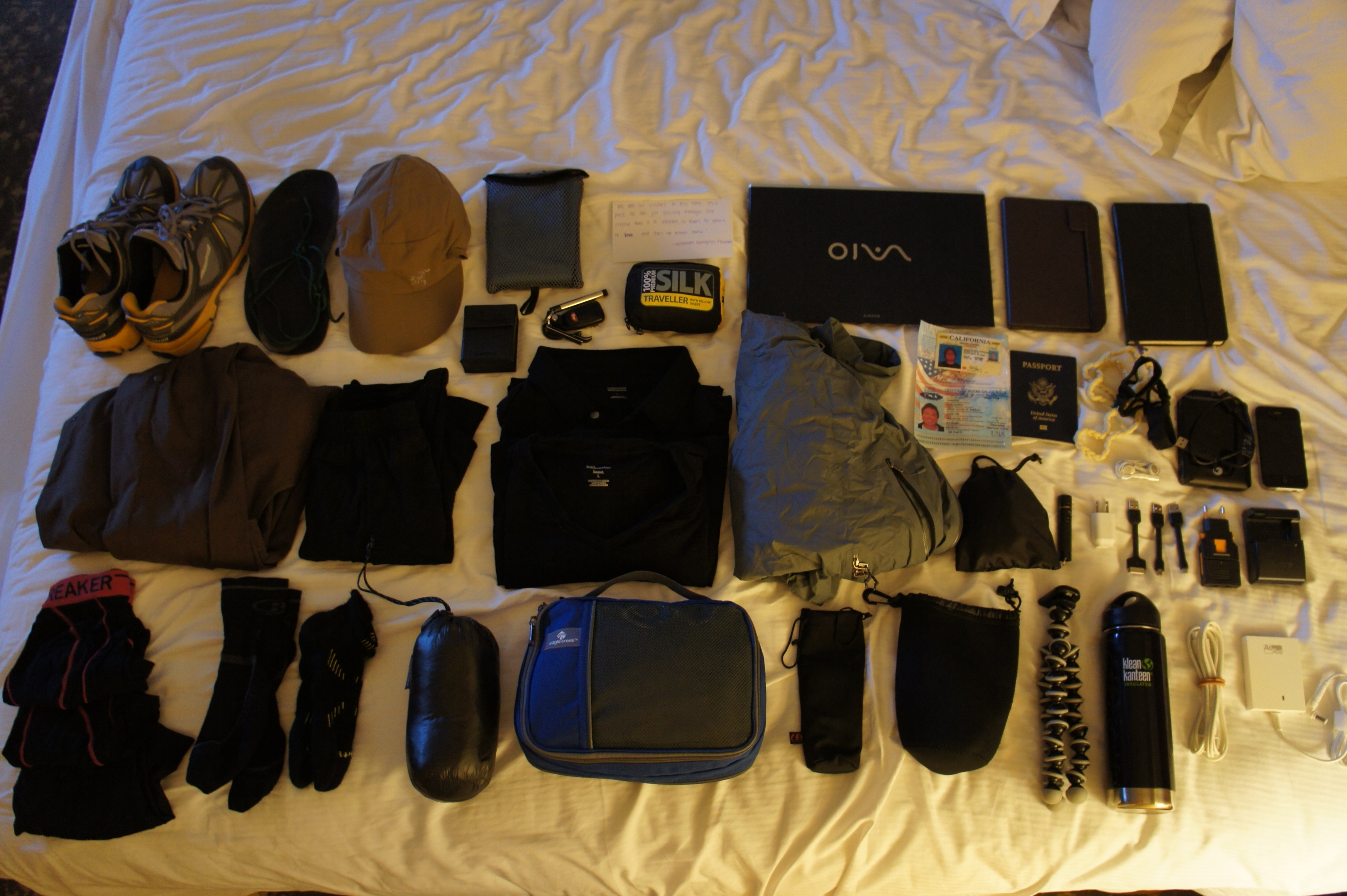 DSC01177 Gear List  12 Month Round the World Trip