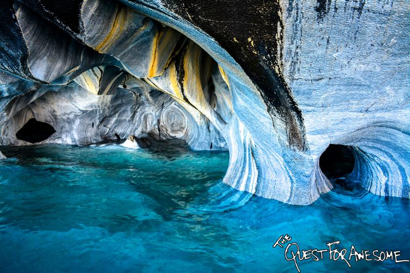 Las Capillas De Marmol - The Marble Cathedral Traquilo, Chile