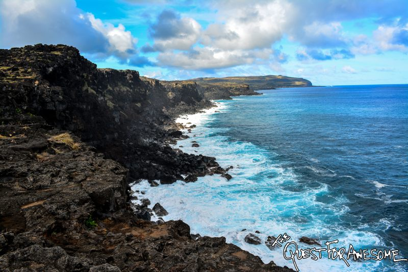 On the Coast to Tepeu, Easter Island