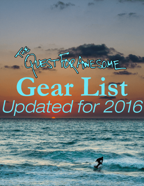 2015 Gear List Cover