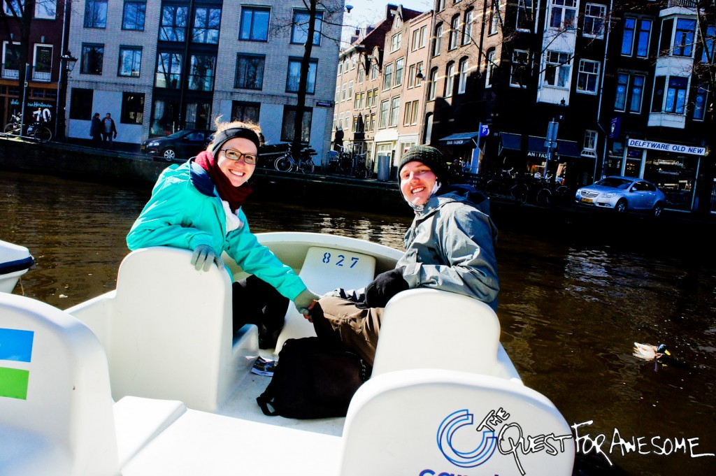 Pedal Boating in Amsterdam, Netherlands