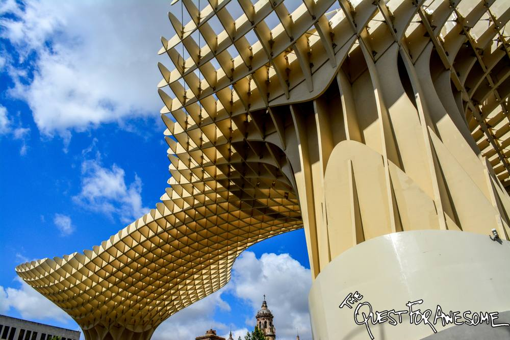 Mushroom Towers in Seville, Spain