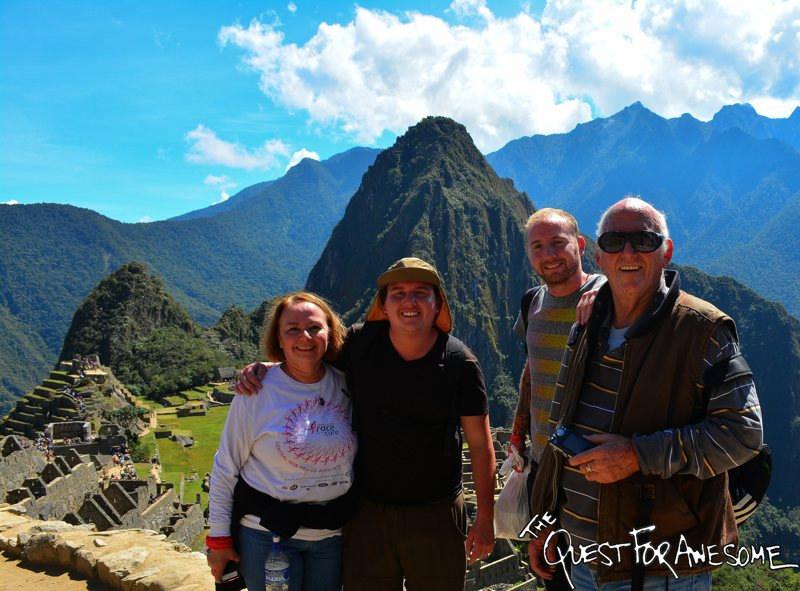 Machu Picchu With The Family