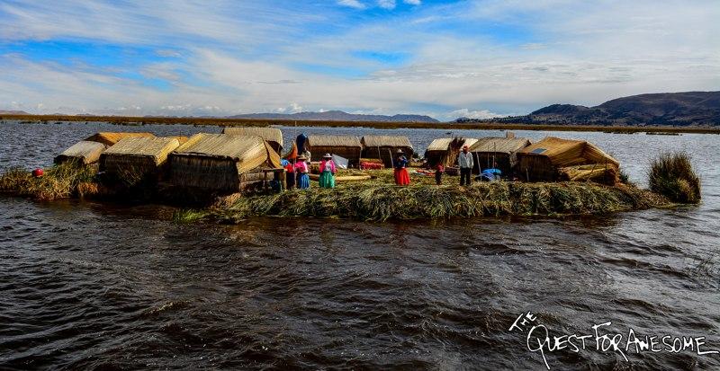 Floating Islands in Lake Titicaca, Peru